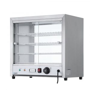 Devanti Commercial Food Warmer Pie Hot Display Showcase Cabinet – Stainless Steel
