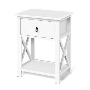 Artiss Bedside Tables Drawers Side Table Nightstand Lamp Chest Unit Cabinet x2