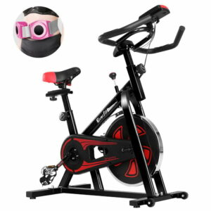 Everfit Spin Exercise Bike Cycling Fitness Commercial Home Workout Gym Equipment – Black
