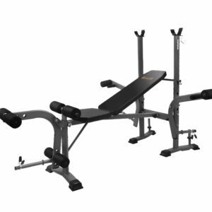 Everfit Multi Station Weight Bench Press Fitness Weights Equipment Incline – Black