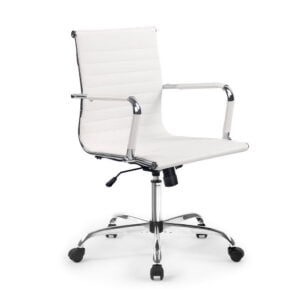 Artiss Gaming Office Chair Computer Desk Chairs Home Work Study – White Mid Back