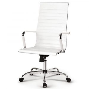 Artiss Gaming Office Chair Computer Desk Chairs Home Work Study – White High Back