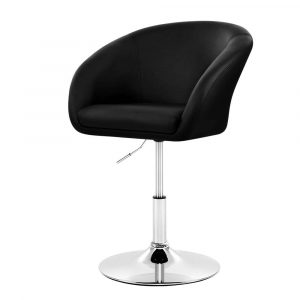 Artiss Bar Stools Accent Chairs Kitchen Bar Stool Swivel Gas Lift Leather – Black