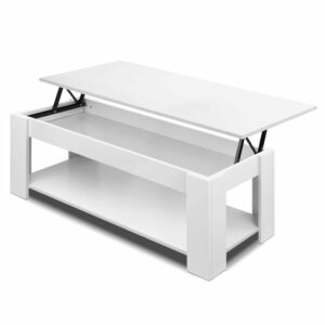 Artiss Lift Up Top Mechanical Coffee Table – White