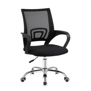 Artiss Office Chair Gaming Chair Computer Mesh Chairs Executive Mid Back – Black
