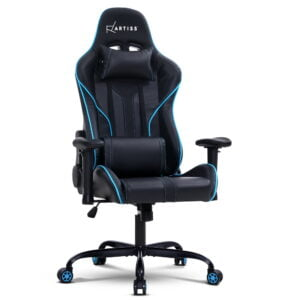 Artiss Gaming Office Chair Computer Chairs Leather Seat Racing Racer Recliner Meeting Chair – Black Blue