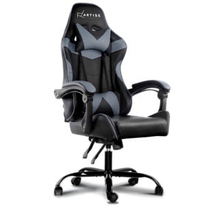 Artiss Office Chair Gaming Chair Computer Chairs Recliner PU Leather Seat Armrest – Black Grey