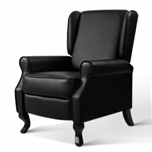 Artiss Recliner Chair Luxury Lounge Armchair Single Sofa Couch Leather – Black
