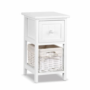 2 PCS Ariss Bedside Table – White