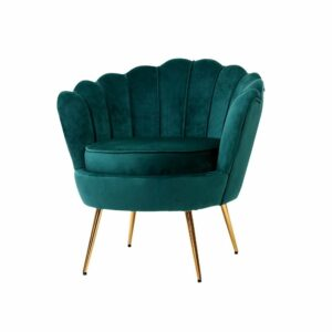 Artiss Armchair Lounge Chair Accent Armchairs Retro Lounge Accent Chair Single Sofa Velvet Shell Back Seat – Green