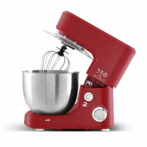 Devanti Electric Stand Mixer 1200W Kitche Beater Cake Aid Whisk Bowl Hook – Red