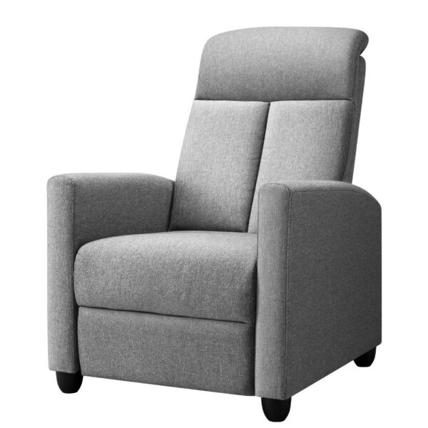 Artiss Recliner Chair Luxury Lounge Sofa Single Armchair Padded Accent Chairs