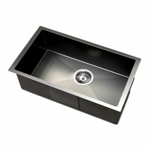 Cefito 450 x 300mm Stainless Steel Sink – Black