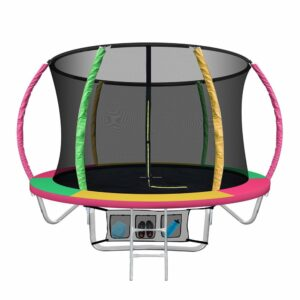 Everfit 8FT Trampoline Round Trampolines Kids Present Gift Enclosure Safety Net Pad Outdoor Multi-coloured