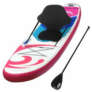 Weisshorn Stand Up Paddle Boards 11′ Inflatable SUP Surfboard Paddleboard Kayak – Pink