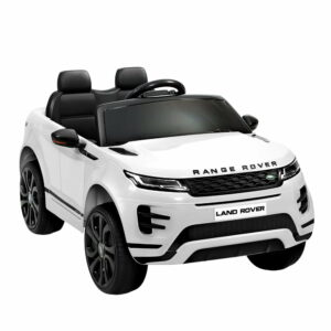 Kids Ride On Car Licensed Land Rover 12V Electric Car Toys Battery Remote – White