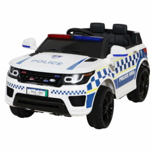 Rigo Kids Ride On Car Inspired Patrol Police Electric Powered Toy Cars – White