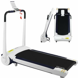 OVICX Electric Treadmill Q1 Home Gym Exercise Machine Fitness Equipment Compact – White