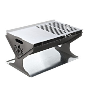 Grillz Fire Pit BBQ Outdoor Camping Portable Patio Heater Folding Packed Steel