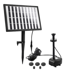 Solar Pond Pump Outdoor Garden Submersible Water Pumps with Battery Kit 4 FT