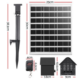 Solar Pond Pump with Battery Garden Water Fountains Panel Kit LED Light 5 FT