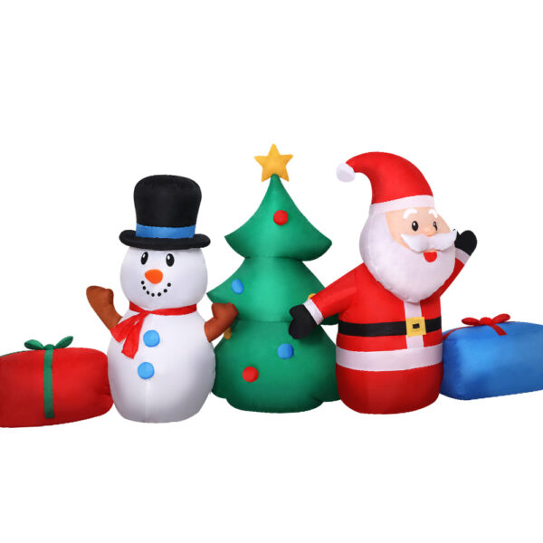 Jingle Jollys 2.7M Christmas Inflatable Tree Snowman Lights Outdoor Decorations